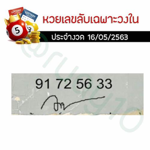 หวยเลขลับเฉพาะวงใน-16-05-2563