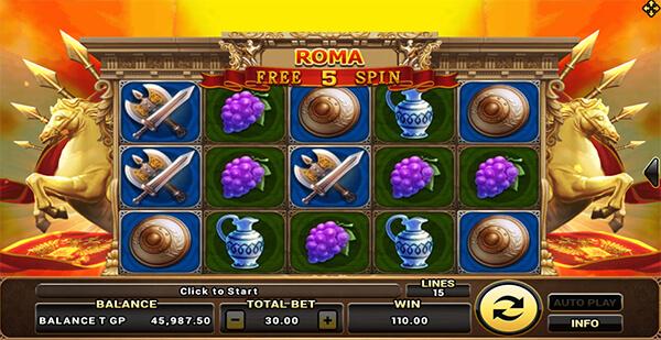 ฟรีสปิน Roma Slot